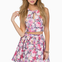 In Full Bloom Skater Skirt $43