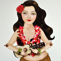 Swaying Hula Paper Toy Doll - Hula Lulla