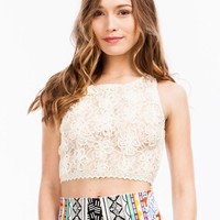 Wanderlust Crocheted Cropped Tank