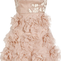 Valentino Embellished silk strapless dress - 50% Off Now at THE OUTNET