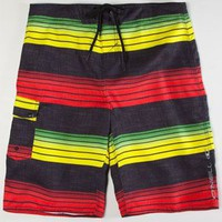 O'neill Santa Cruz Stripe Mens Boardshorts Rasta  In Sizes