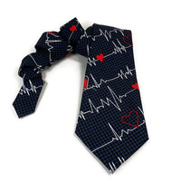 Doctor tie, DR tie, surgeon tie, nurse tie, hospital tie, heartbeat tie, dr graduation tie, medical tie, medic tie, parametic tie, mens tie
