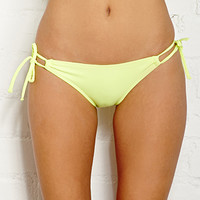 FOREVER 21 Favorite Keyhole Bikini Bottom Neon Yellow Large