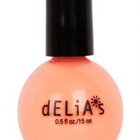 Sherbet Orange Shimmer Nail Polish