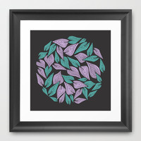 Winter Wind Framed Art Print by Pom Graphic Design