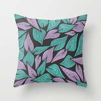 Winter Wind Throw Pillow by Pom Graphic Design