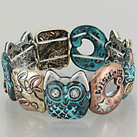 Owl Wisdom Bracelet from P.S. I Love You More Boutique