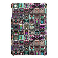 Cute Little Owl Pattern iPad Mini Cover