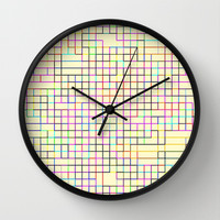 Re-Created SquaresXXV Wall Clock by Robert S. Lee