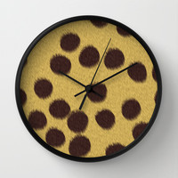 Animal Patterns - Cheetah Wall Clock by Texnotropio