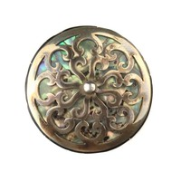 Idol in Abalone Silver Inlay Plug - Buddha Jewelry Organics