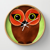 The Tiki Owl Wall Clock by Texnotropio