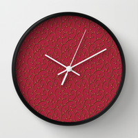Delicate Vines Wall Clock by Texnotropio