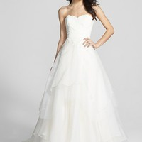 Hayley Paige 'Mila' Strapless Silk Organza Wedding Dress (In Stores Only) | Nordstrom