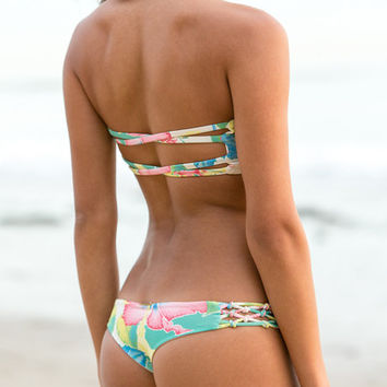 The Girl and The Water - San Lorenzo - Knotted Bikini Bottom / Isla Palmera - $66