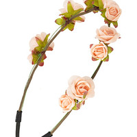 Bohemian Rose Flower Crown