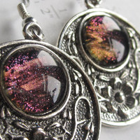 Magma - Dangle earrings - Medallion earrings - Drop earrings - galaxy jewelry - physics earrings - science earrings - science jewelry
