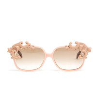 MOO | Square Sunglasses with Porcelain Eyebrows | Browns fashion & designer clothes & clothing