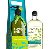 Lather & Lotion Aromatherapy Gift Set Stress Relief - Eucalyptus Spearmint