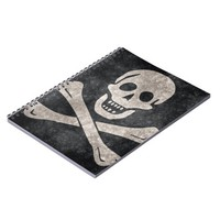 Pirate Skull and Crossbones Flag 80 Page Notebook
