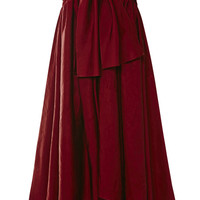 Ultrafine Washed Satin Tie Front Skirt by Rosie Assoulin - Moda Operandi