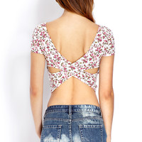 Cutout Craze Floral Crop Top