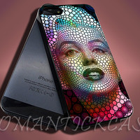 MArlin Monroe Color full Art - iPhone 4/4s/5c/5s/5 Case - Samsung Galaxy S3/S4 Case - Black or White