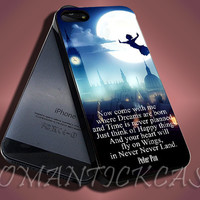 Peter Pan Quote - iPhone 4/4s/5c/5s/5 Case - Samsung Galaxy S3/S4 Case - Black or White