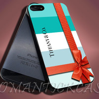 Tiffany and Co Design - iPhone 4/4s/5c/5s/5 Case - Samsung Galaxy S3/S4 Case - Black or White