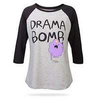 Adventure Time Drama Bomb Raglan Ladies' Tee