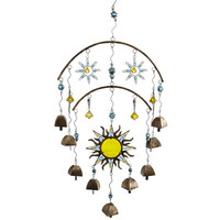 Beaded Sun & Bells Windchimes