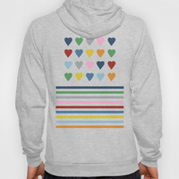 Heart Stripes Black Hoody by Project M