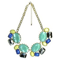 Statement Necklace - Silver/Blue