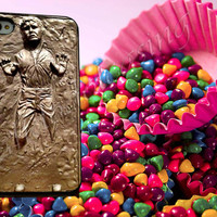 HAN SOLO IN carbonite - for iPhone 4/4s, iPhone 5/5S/5C, Samsung S3 i9300, Samsung S4 i9500 Hard Case *rafidodolcasing*