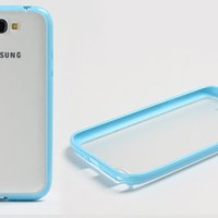 MagicPieces Candy Color Frame Plastic Protective Snap On Case for Samsung Note 2 Blue