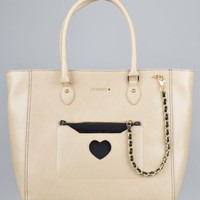 Moschino Large Fabric Bag - Beige