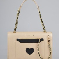 Moschino Medium Fabric Bag - Beige