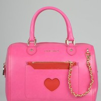 Moschino Medium Fabric Heart Bag - Pink