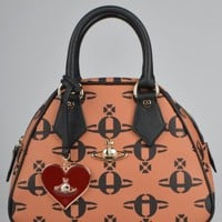 Vivienne Westwood All Over Orb Yasmin Bag 13397 - Brown