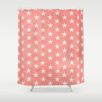 Starfish { Peach } Shower Curtain by alterEGO