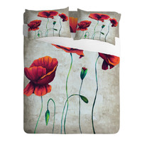 Madart Inc. Vibrant Poppies II Sheet Set
