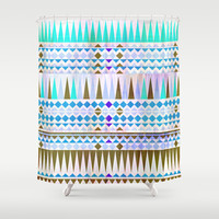Mix #544 Shower Curtain by Ornaart