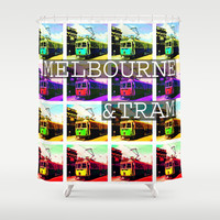 Melbourne & Tram Shower Curtain by Limmyth