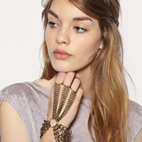 ASOS 3 Finger Chains Hand Harness at ASOS