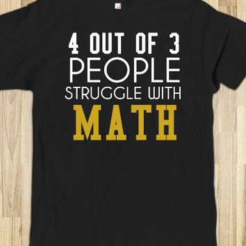 Struggle with math tee t shirt