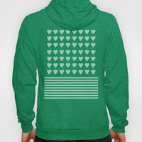 Heart Stripes Mint Hoody by Project M