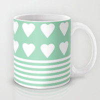 Heart Stripes Mint Mug by Project M