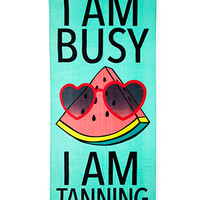 Busy Tanning Beach Towel