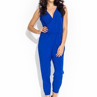 Draped Surplice Jumpsuit