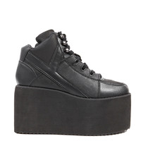 Y.R.U. Qozmo High Platform Sneaker in Black
